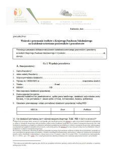 wniosek o przyznanie srodków z KFS